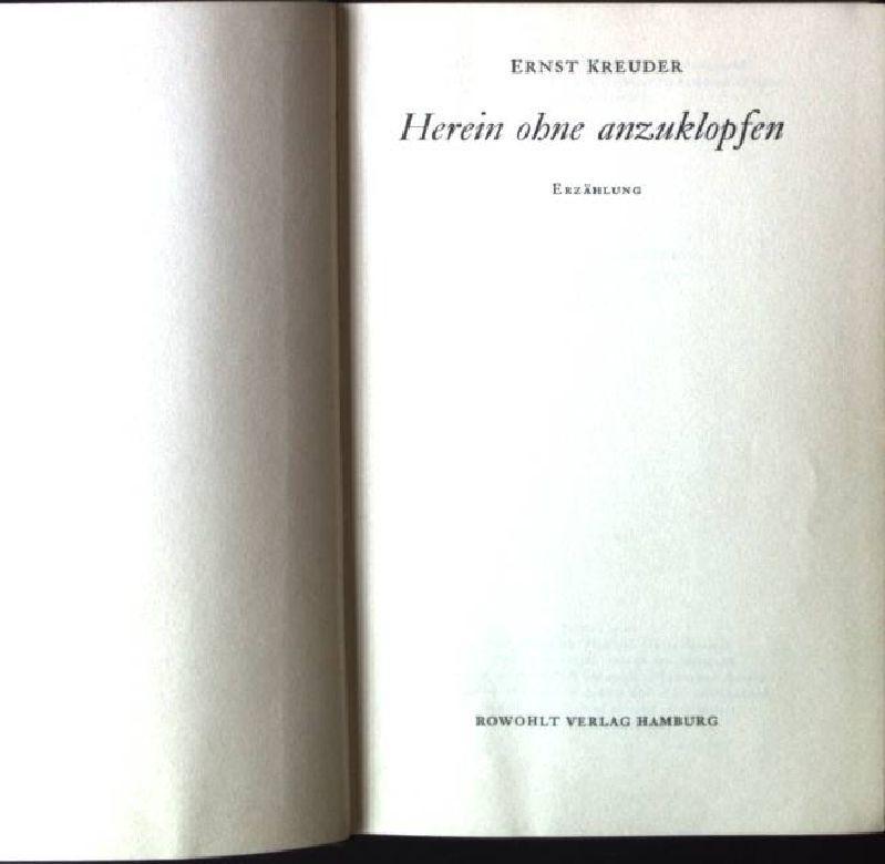 Herein ohne anzuklopfen, Erzählung: Kreuder, Ernst: