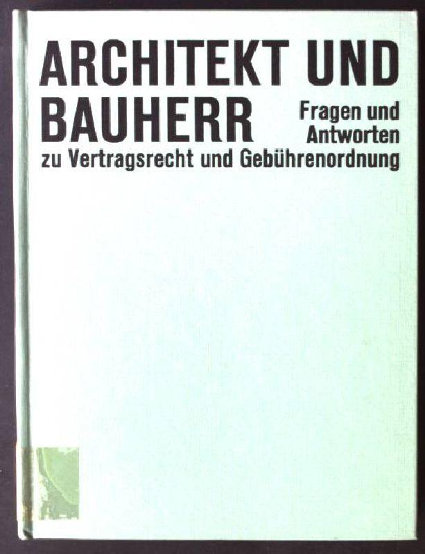 Architekt Und Bauherr Bücher Zvab