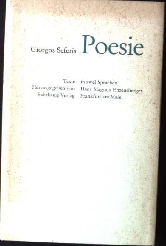 Poesie, griechisch - deutsche: Seferis, Giorgos: