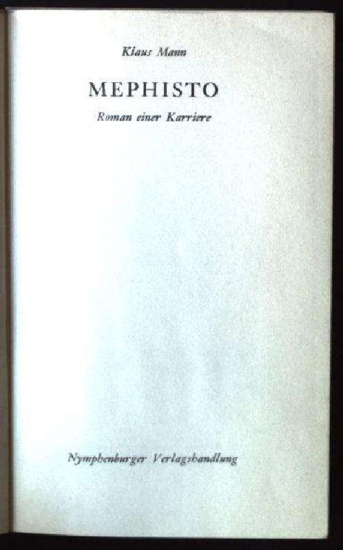 Mephisto, Roman einer Karriere: Mann, Klaus: