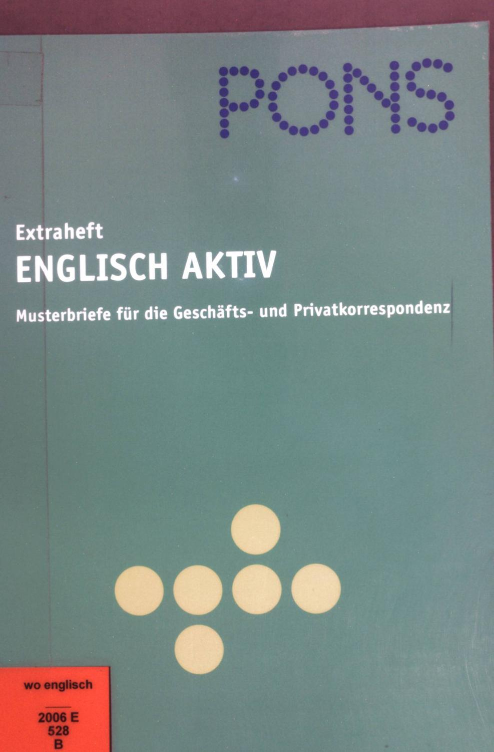 Musterbriefe Pons : Pons grosswoerterbuch zvab