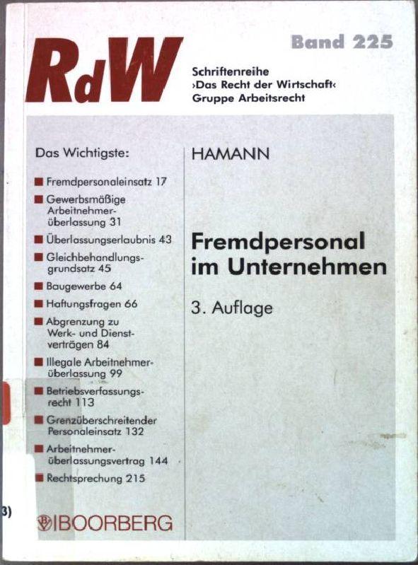 Fremdpersonal Unternehmen Alternativen Arbeitsvertrag Von Wolfgang