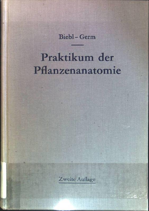 praktikum der pflanzenanatomie - ZVAB