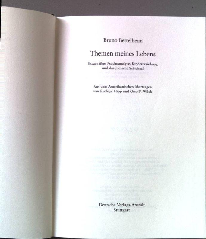 a victim bruno bettelheim essay Free bruno bettelheim papers, essays, and research papers  triumph for any  system than this adoption of its values and behaviour by its powerless victims.