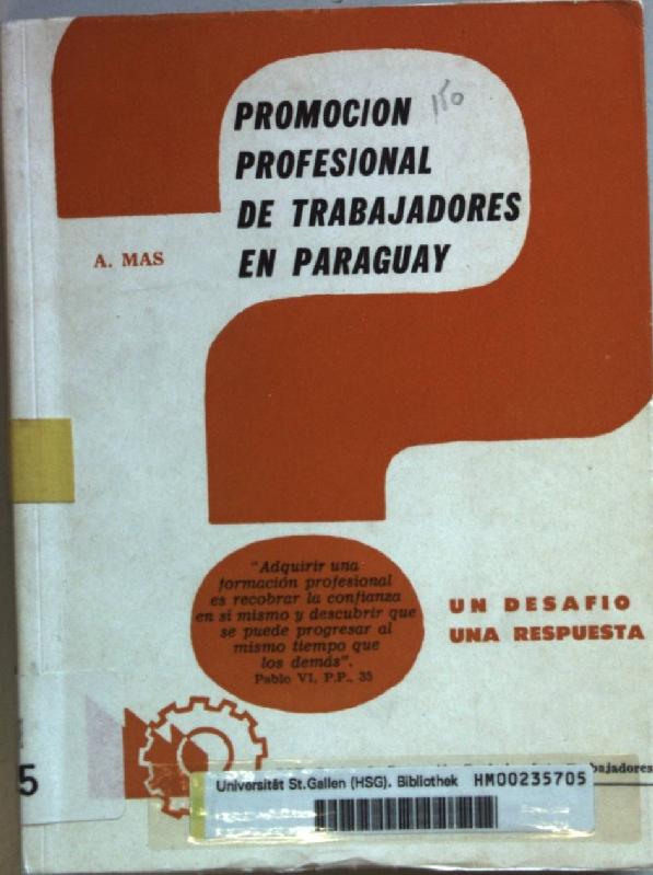 Promocion profesional de trabajadores en Paraguay: un: Mas, A.: