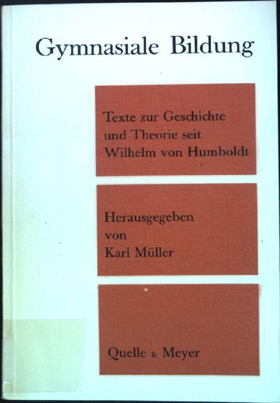 Humboldt Theorie Der Bildung