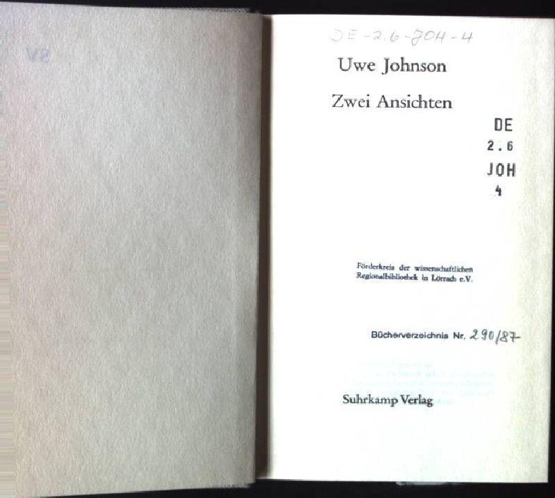 Zwei Ansichten: Johnson, Uwe: