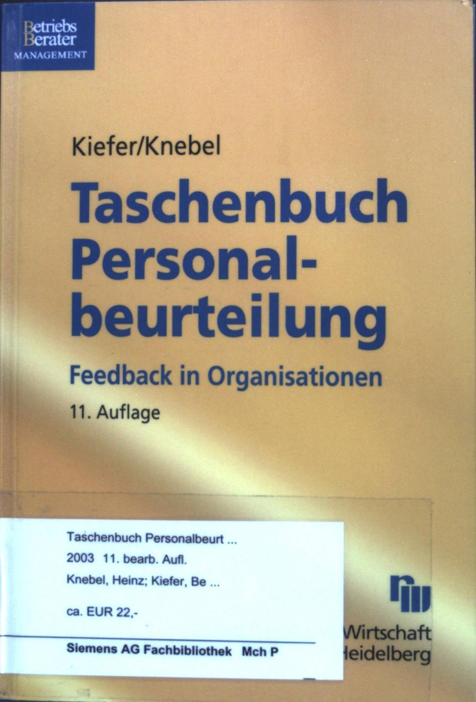 taschenbuch personalbeurteilung feedback von kiefer - ZVAB