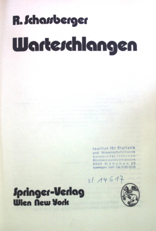 Warteschlangen Von Schassberger Zvab