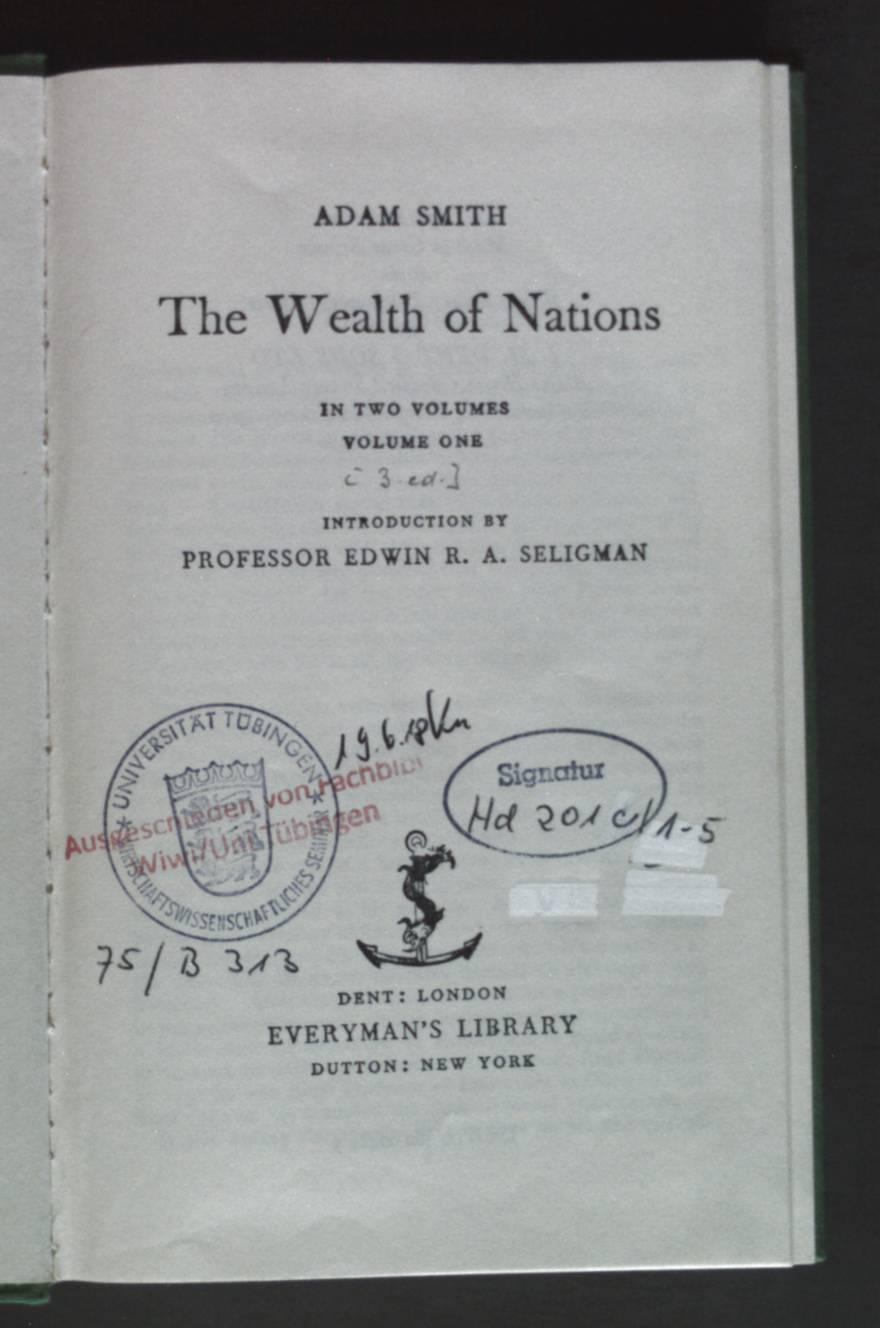 The Wealth of Nations - In Two: Smith, Adam: