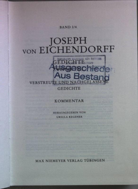 Sämtliche Werke Des Freiherrn Joseph Von