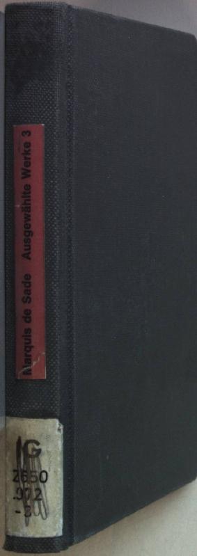 Ausgewählte Werke: BAND 3: Aline und Valcour/: Sade, Marquis de: