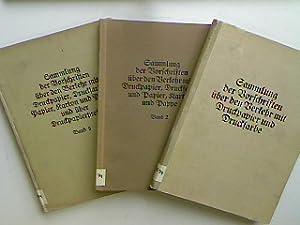 Sammlung der Vorschriften über den Verkehr mit Druckpapier und Druckfarbe (3 Bände KOMPLETT) - Bd. ...