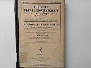Die deutsche Landwirtschaft. - Deutsche Wiedergabe des: Darré, Walther: