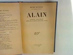 Alain: Souvenirs - pages inédites - lettre: Mondor, Henri:
