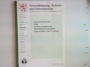 Biozoenotische und hydrochemische Bestandsaufnahme der Werra und: Meinel, W. und
