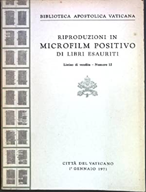 Riproduzioni in Microfilm Positivo di Libri Esauriti:
