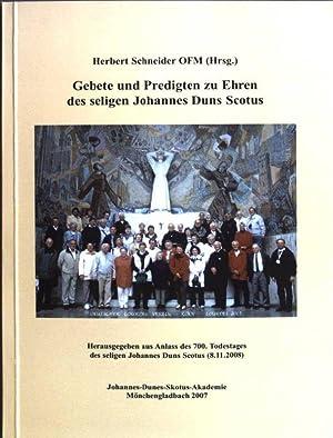 Gebete und Predigten zu Ehren des seligen: Schneider, Herbert: