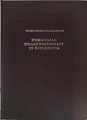 Kommunale Finanzwirtschaft in Österreich; Grazer Rechts- und: Schachner-Blazizek, Peter: