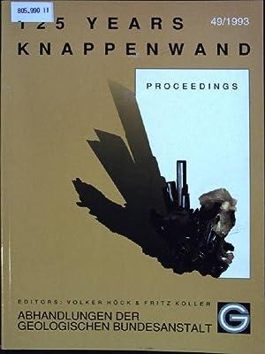 125 years Knappenwand: Proceedings. Abhandlungen der Geologischen Bundesanstalt, Band 49;: Höck, ...