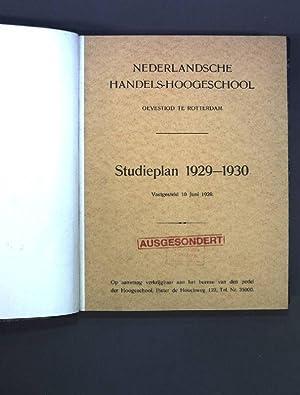 Nederlandsche Handels-Hoogeschool, Gevestigd te Rotterdam : Studieplan