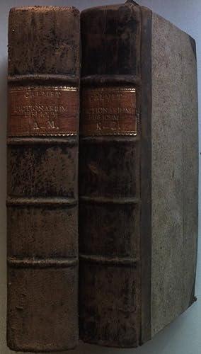 Dictionarium Manuale Biblicum Ex celebratissimis potissimum dictionariis,: Calmet, Augustinus: