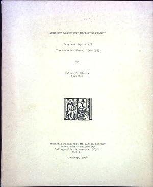 Monastic Manuscript Microfilm Projekt : Progress Report: Plante, Julian G.: