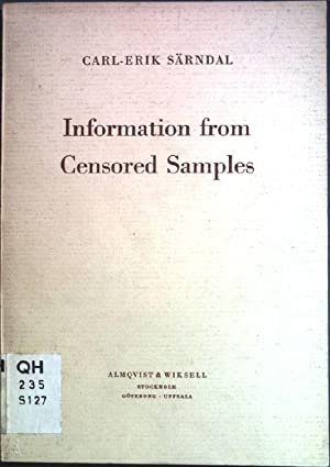 Information from censored samples: Särndal, Carl-Erik: