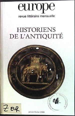 Historiens de l'antiquité Europe: Revue littéraire mensuelle;: Mezzadri, Bernard: