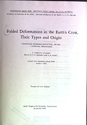 Folded deformations in the earth's crust, their: Belousov, V.V. [Ed.]