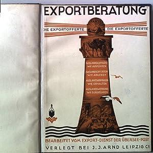 Die Exportofferte; Exportberatung - Band 3.: Kapferer, Clodwig: