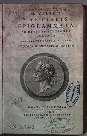 M. Valerii Martialis Epigrammata, paraphrasi et ad: Martial: