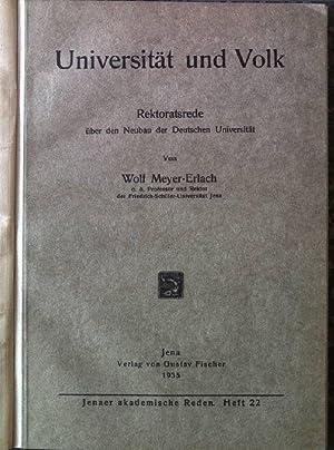 Universität und Volk: Rektoratsrede über den Neubau: Meyer-Erlach, Wolf: