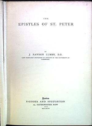 The epistles of St. Peter The Expositor's: Lumby, J.R.: