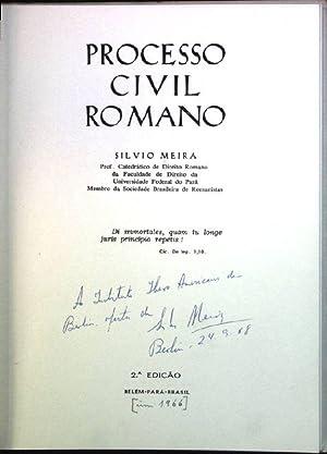 Processo civil romano (SIGNIERTES EXEMPLAR): Meira, Silvio: