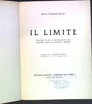 Il limite: contributio alla conoscenza di una: Schaub-Koch, Emile: