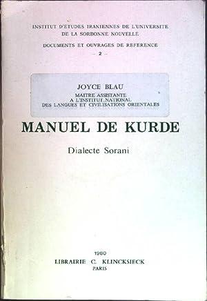 Manuel de kurde: dialecte sorani - grammaire,: Blau, Joyce: