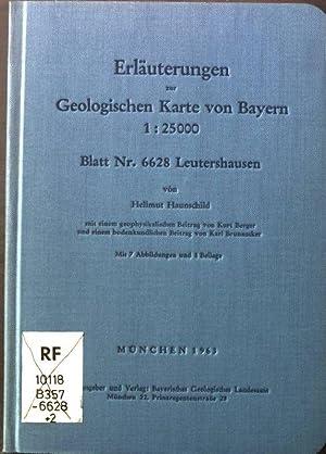Blatt Nr. 6628 Leutershausen. - Erläuterungen zur: Haunschild, Hellmut: