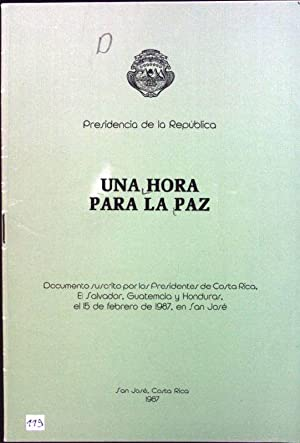 Una hora para la paz: Presidencia de la