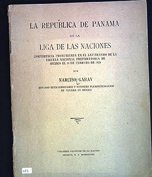 La republica de Panama en la liga: Garay, Narciso:
