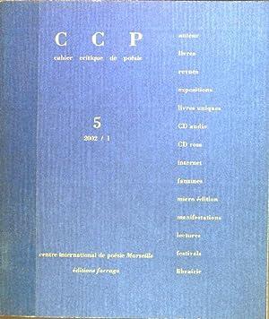 Revue cahier critique de poesie; No. 5: Boyer, Jean-Pierre, Emmanuel