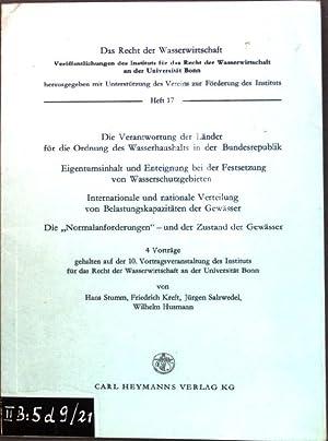 Die Verantwortung der Länder für die Ordnung: Stumm, Hans, Friedrich