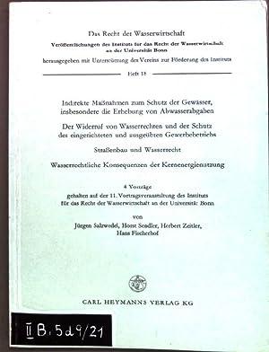Indirekte Maßnahmen zum Schutz der Gewässer, insbesondere: Salzwedel, Jürgen, Horst