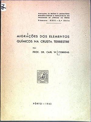 Migracoes dos elementos quimicos na crusta terrestre: Correns, Carl W.: