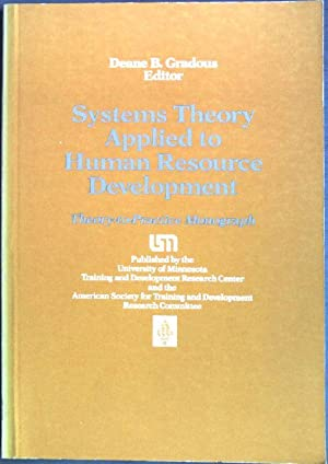 Systems theory applied to human resource development: Gradous, Deane B.