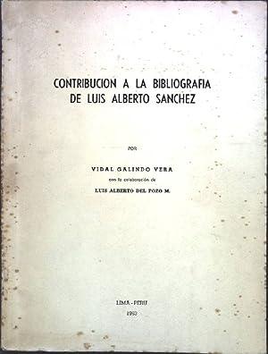 Contribucion a la Bibliografia de Luis Alberto: Galindo vera, Vidal