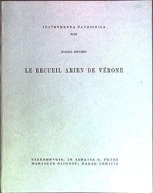 Le rcueil arien de Vérone Instrumenta Patristica;: Gryson, Roger: