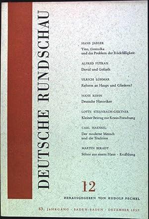 Der moderne Mensch und die Tradition Deutsche: Pechel, Rudolf [Hrsg.]