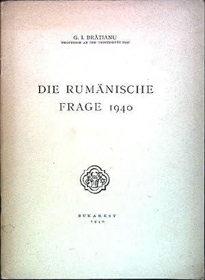 Die rumänische Frage: Bratianu, G.I.: