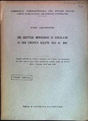Die geistige Bewegung in Russland in der: Jablonowski, Horst: